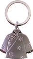 Silver Lady's Jacket Key Chain