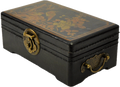 Leather Rectangular Footed Box Black