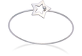 Silver opening Star Bangle - Ladies 3054   LAST ONE