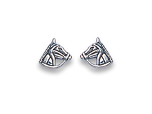 Silver Horse Stud Earrings 5006