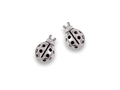 Silver Ladybird Stud Earrings 5015