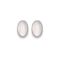 Silver Mother of Pearl oval Stud Earrings - Size: 7mm x 10mm 5621