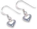 Silver Plain Drop Earrings 6179