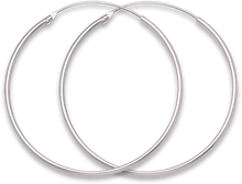 Silver Large Hoop Earrings 6230