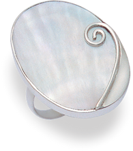 Silver Mother of Pearl Rings 2160MOP