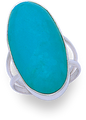Silver Reconstituted Turquoise Rings 2179TQ