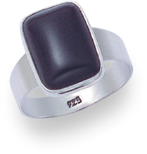Silver Onyx Rings 2195ON