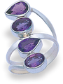 Silver Amethyst colour Quartz 2213AMQ