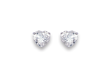 Silver Cubic Zirconia Stud Earrings 5755CZ