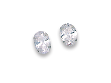 Silver Cubic Zirconia Stud Earrings 5765CZ