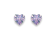 Silver Cubic Zirconia Stud Earrings 5766LAV