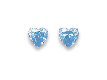 Silver Cubic Zirconia Stud Earrings 5766LB