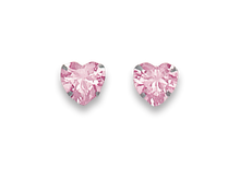 Silver Cubic Zirconia Stud Earrings 5766PCZ