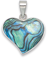 Silver Shell, reconstituted Turquoise & Onyx Pendant 8303PS