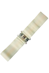 BANNED - Vintage Rockabilly Stretch Belts (Ivory)