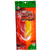 Cachepigui Cachetada Doblex Picosita comes in a 10 piece pack and is a delicious acidulated soft candy lollipop with a rich spicy flavor.