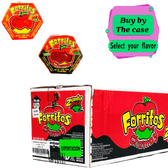 Zumba Pica Forritos comes in a small cardboard box as a hexagonal shape that contains five apple covers inside. This candy is a completely manageable soft caramel fudge to make covered apples. The delicious sweet comes in 3  different flavors tamarind, chamoy, and the combination of mango with tamarind.