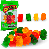 Gomita Panditas is a package of gummies with the form of little bears and really tasty lasting flavors such as lemon, orange, pineapple and cherry.