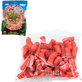 Churritos Safari are tasty crispy sticks made from corn with a slight lemon and salt flavor. The sticks have a rough and crunchy texture and come with 50 package.