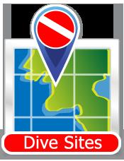 Dive Sites Icon - button for dive locations