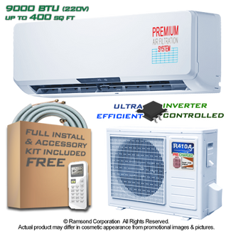 Ramsond R27GWi 9000 BTU 16.7 SEER Ductless Mini Split AC + Heat Pump
