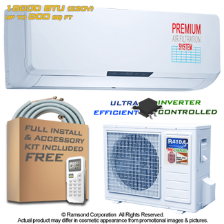 Ramsond R55GWi 18000 BTU Inverter Ductless Mini Split AC + Heat Pump