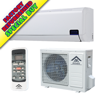 Reconditioned or Scratched & Dented A37GW2C-i2 | Amvent 12000BTU Cool Only INVERTER Mini Split AC - SEER 19.0