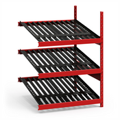 Add-On Battery Rack with 4 Slide Levels First In - First Out
