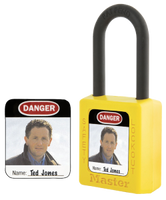 Master Lock #S142 photo padlock label (padlock not included)