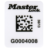 Master Lock #S150 barcode labels for safety padlocks and lockout point isolation tag
