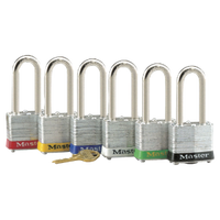 #1220LHAST Laminated Steel Safety Padlock. Set of 6 Keyed Different Padlocks