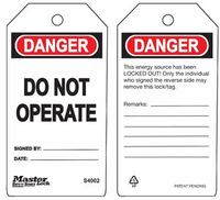 #S4002 Customizable Safety Tag