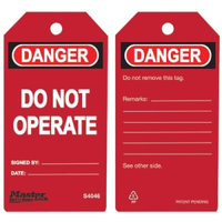 #S4046 Safety Tag
