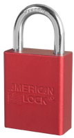 A1105RED Aluminum Safety Padlock. Other Colors Available