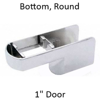 Chrome plated bathroom stall bottom hinge door insert #90H446