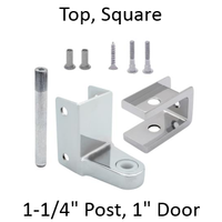 Chrome plated top bathroom stall hinge replacement pack #63040