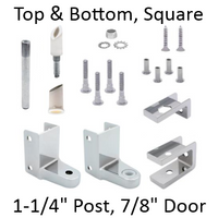 Chrome plated top AND bottom bathroom stall hinge replacement pack #63120