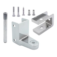 """Chrome plated top bathroom stall hinge replacement pack for 7/8"""" door #63020"""
