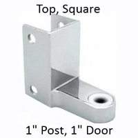 Chrome plated top bathroom stall hinge bracket #90H136