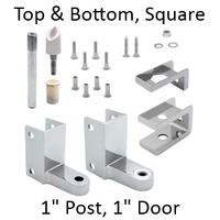 Top AND bottom bathroom stall hinge replacement pack #63150