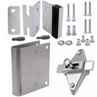 Latch repair kit for round-edged inswing door