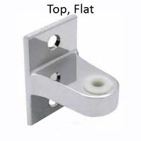 Top Bathroom Stall Hinge Bracket, Flat. Chrome plated Zamac or Satin Stainless Steel. General Partitions & Knickerbocker Metal. #90H126 & #90H130