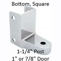 Chrome plated bottom bathroom stall hinge bracket #90H152
