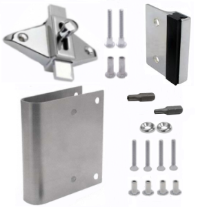 Bathroom Stall Repair Parts Concealed Latches Surface Mounted - Bathroom stall door latch