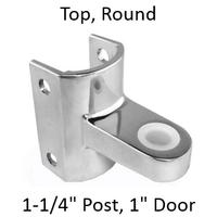 Chrome plated top bathroom stall bracket #90H227