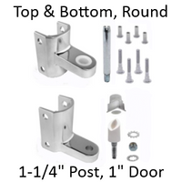 Chrome plated top AND bottom bathroom stall replacement pack #63140