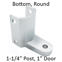 Chrome plated bottom bathroom stall hinge bracket #90H247