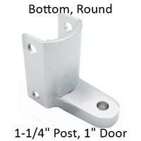 Chrome plated bottom bathroom stall hinge bracket #90H247