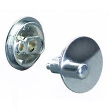 ADA compliant concealed latch set for bathroom stall doors with latching mechanism installed in door