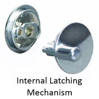 ADA compliant concealed latch set for bathroom stall doors with latching mechanism installed in door